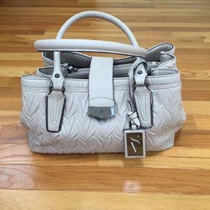 Simply Vera Vera Wang Textured Cream Shoulder Bag